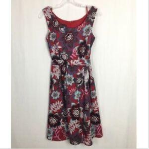 Talbots Women's Sundress w/ Belt - 6 - Red Floral